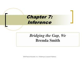 Part 7: Inference