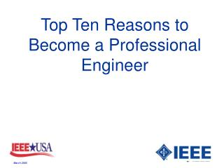 Main Ten Reasons to Become a Professional Engineer