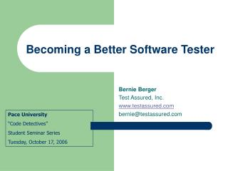 Improving as a Software Tester