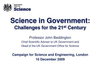 Science in Government