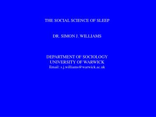 The sociology of rest