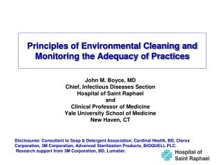 Standards of Environmental Cleaning and Monitoring the Adequacy of Practices