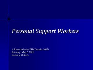 Individual Support Workers