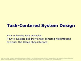 Undertaking Centered System Design