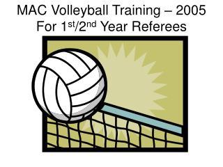 Macintosh Volleyball Training
