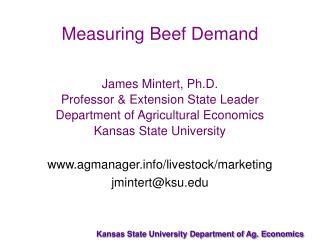 Measuring Beef Demand