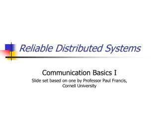 Dependable Distributed Systems