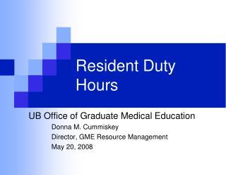 Inhabitant Duty Hours