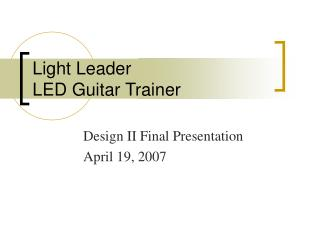Light Leader LED Guitar Trainer