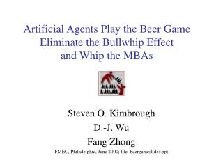 Fake Agents Play the Beer Game Eliminate the Bullwhip Effect and Whip the MBAs