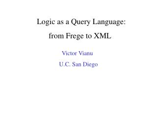 Rationale as a Query Language: from Frege to XML