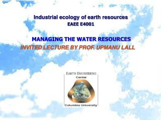 Modern nature of earth assets EAEE E4001