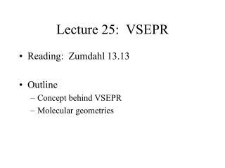 Address 25: VSEPR