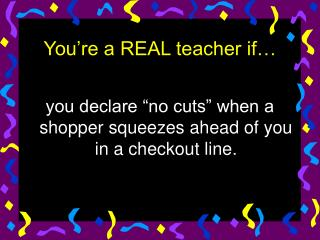 You re a REAL instructor if