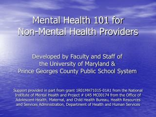 Psychological well-being 101 for Non-Mental Health Providers
