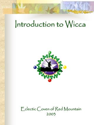 Prologue to Wicca