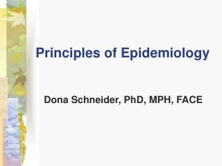 Standards of Epidemiology