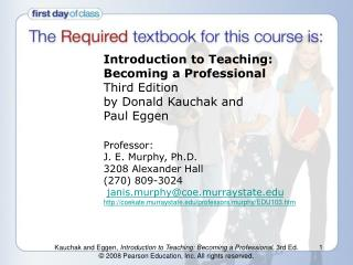 Prologue to Teaching: Becoming a Professional Third ...