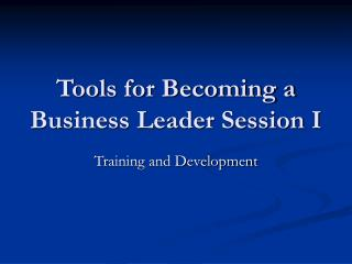 Apparatuses for Becoming a Business Leader Session I