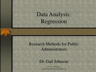 Information Analysis: Regression