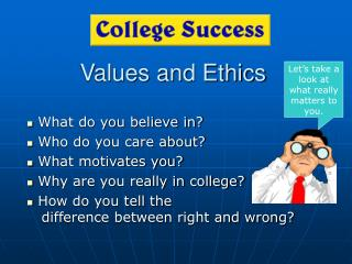 Qualities and Ethics