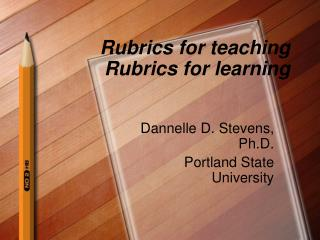 Rubrics for showing Rubrics for learning