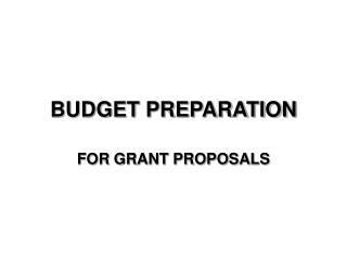 Financial plan PREPARATION