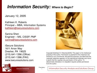 Data Security: Where to Begin