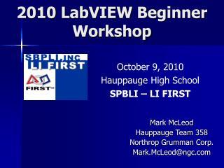 2010 LabVIEW Beginner Workshop