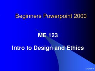 Apprentices Powerpoint 2000