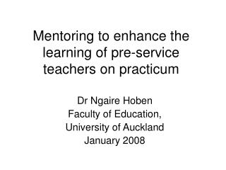 Tutoring to upgrade the learning of pre-administration educators on ...