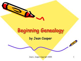 Starting Genealogy