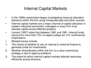 Inside Capital Markets
