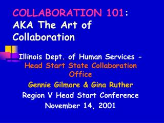 Coordinated effort 101: AKA The Art of Collaboration