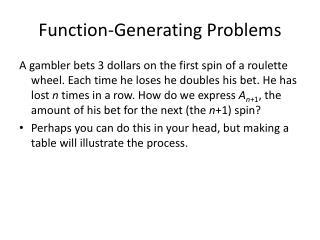 Capacity Generating Problems