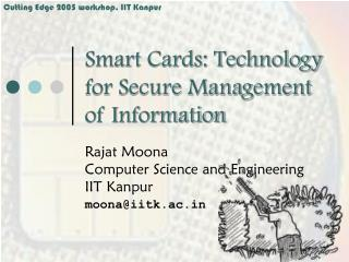 Savvy Cards: Technology for Secure Management of Information