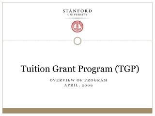 Educational cost Grant Program TGP