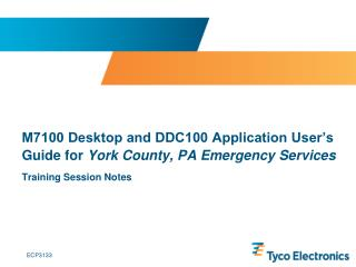M7100 Desktop and DDC100 Application User