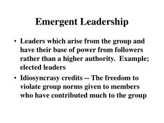 Emanant Leadership