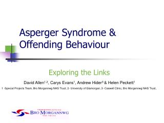 Asperger Syndrome Offending Behavior