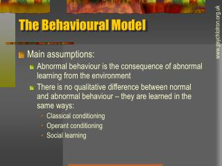 The Behavioral Model