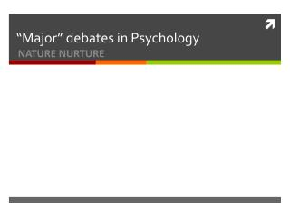 Significant open deliberations in Psychology