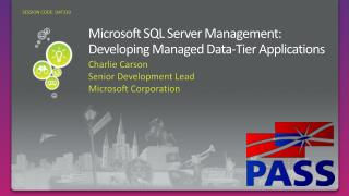 DAT310: Microsoft SQL Server Management: Developing Managed Data ...