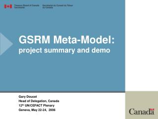 GSRM Meta-Model: venture outline and demo