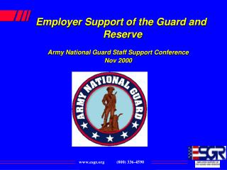 Business Support of the Guard and Reserve Army National Guard Staff Support Conference Nov 2000