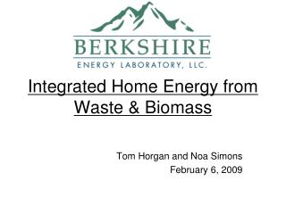 Incorporated Home Energy from Waste Biomass