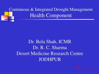 Persistent Integrated Drought Management Health Component