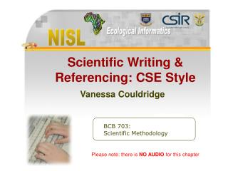 Exploratory Writing Referencing CSE Style