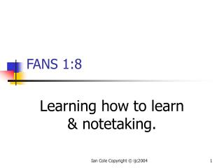 Figuring out how to learn and notetaking