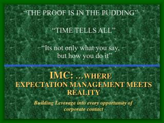 Intergrated Marketing Communications